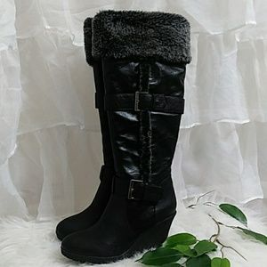 New CANYON RIVER BLUES Fur Lined Wedge Boots (sh4)